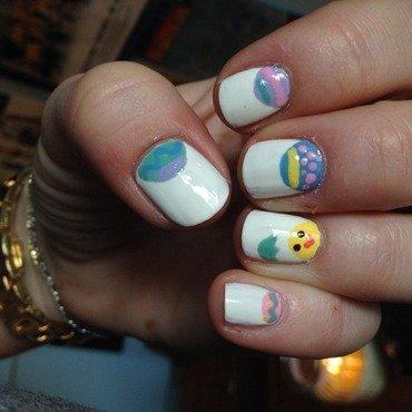 Easter Nails nail art by Kayla