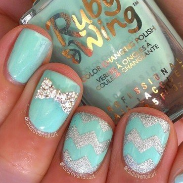Refresh-mint nail art by Jessica Byles