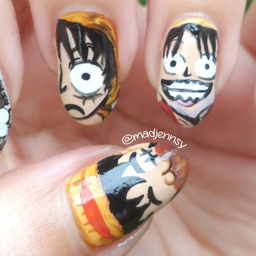 One piece mokey d luffy nails thumb370f