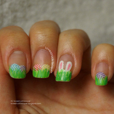 Easter Egg Hunt Tip Nail Art nail art by Stephanie L