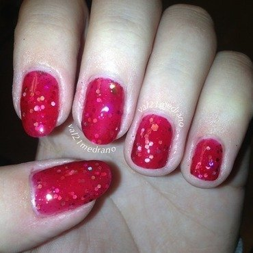 Wicked Polish Cardiac Arrest and HK Girl Fast Drying & Super Shiny Clear Top Coat Swatch by Valerie