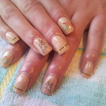 Easter nails nail art by Rita Mirabela