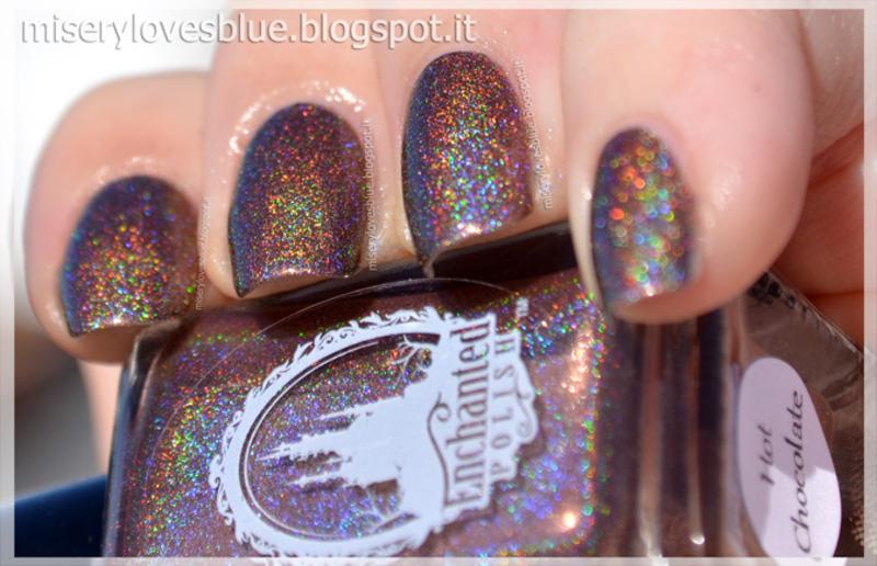 enchanted polish Hot Chocolate Swatch by MiseryLovesBlue