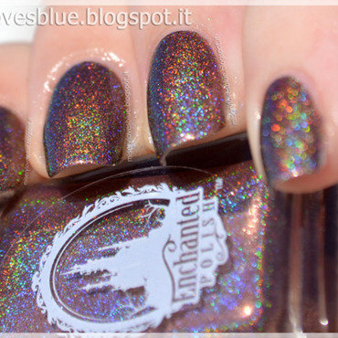enchanted polish Hot Chocolate Swatch by MiseryLovesBlue