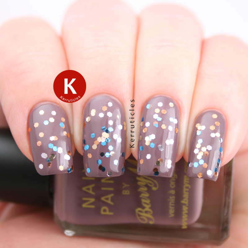 Barry M Cappucino and Technic Money Bags Swatch by Claire Kerr
