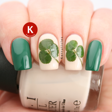St patricks day clover nails ig thumb370f