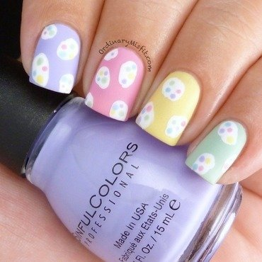 Easter speckled eggs nail art by Michelle
