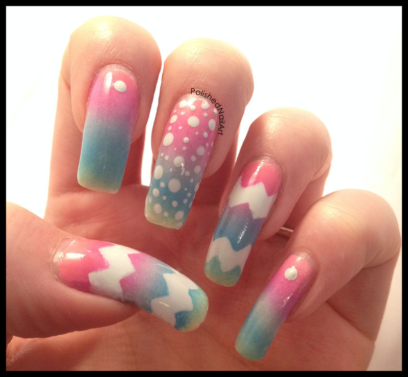 Painted Eggs nail art by Carrie