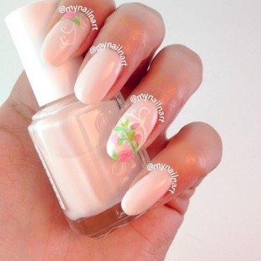 pink roses nail art by mynailnart