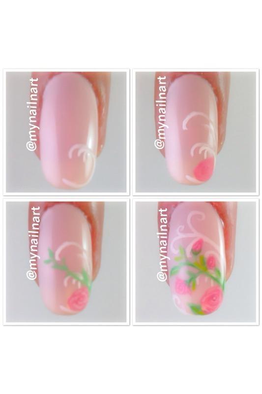 Pink Roses Tutorial Nail Art By Mynailnart Nailpolis Museum Of