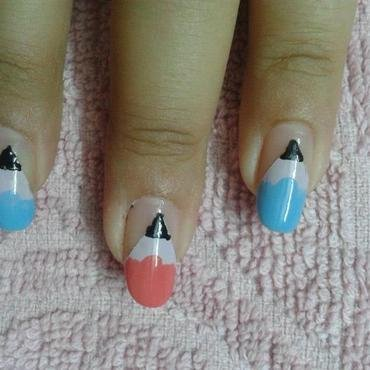 Pencil nail art nail art by HerCreativePalace (kanika)