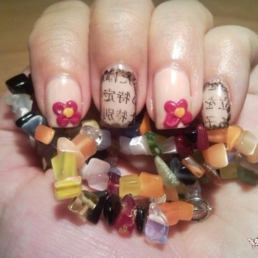 Asian letters nails nail art by Rita Mirabela