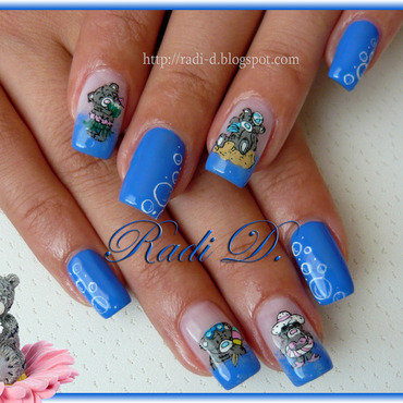 Summer Me To You nail art by Radi Dimitrova