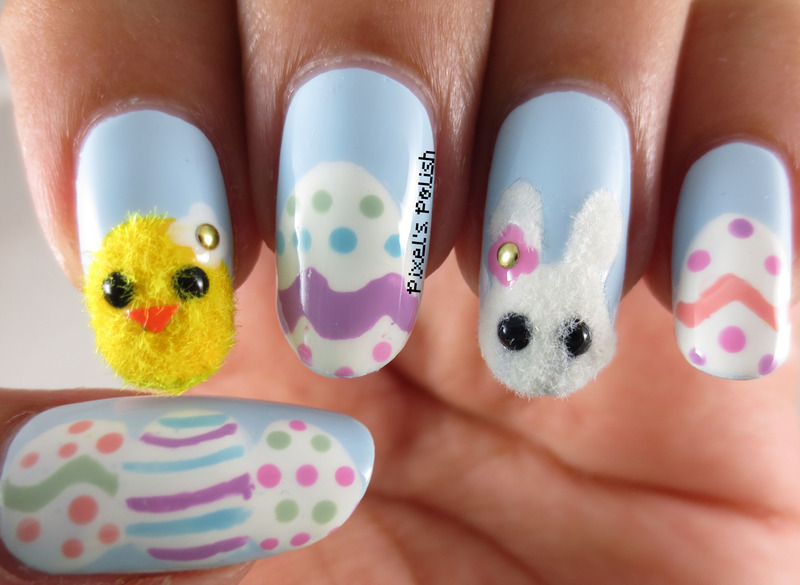 Easter Cuties nail art by Pixel's Polish