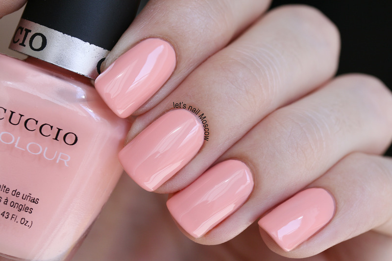 Cuccio Life Is A Peach Swatch by Let's Nail Moscow