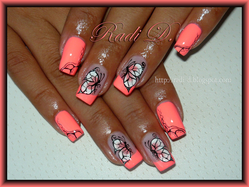 Flip Flop Butterflies nail art by Radi Dimitrova - Nailpolis ...