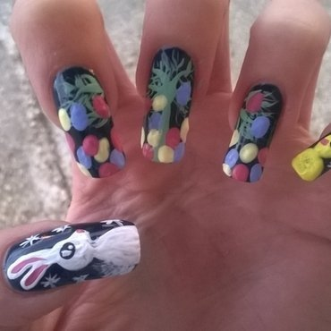 Who is more crazy about Easter? nail art by Mila