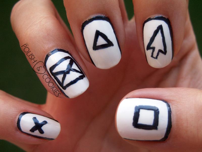 Geeky Nails Right Hand Nail Art By Polishcookie Nailpolis