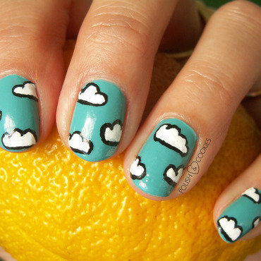 Under the Blue Sky (Earth Day Challenge) nail art by PolishCookie