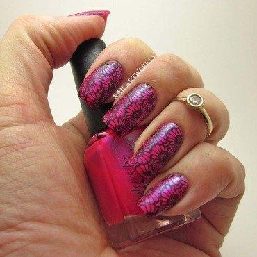 Lacy Neon Punk nail art by Karolyn