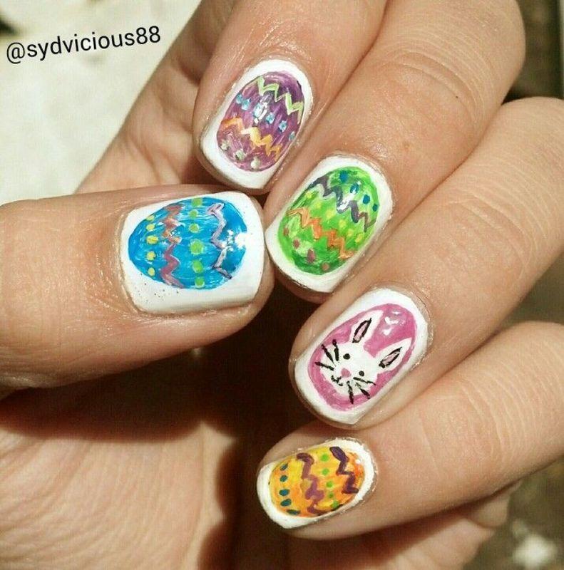Easter Nails nail art by SydVicious