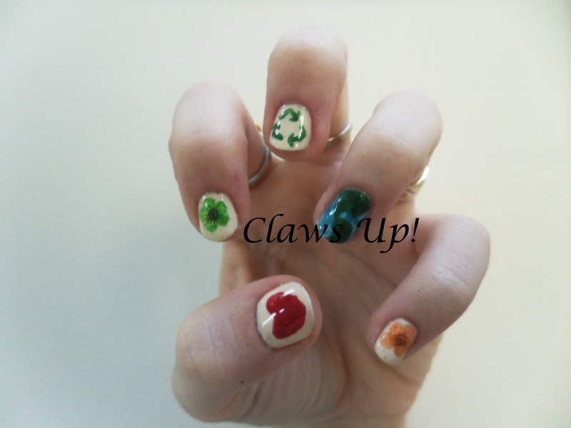 Earth Day nail art by Jacquie