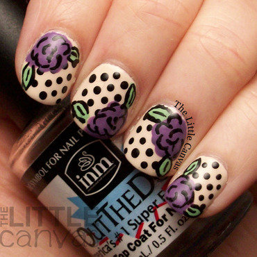 Polka dot rose nail art 4 thumb370f