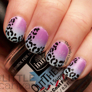 Leopard Tip Nail Art nail art by The Little Canvas