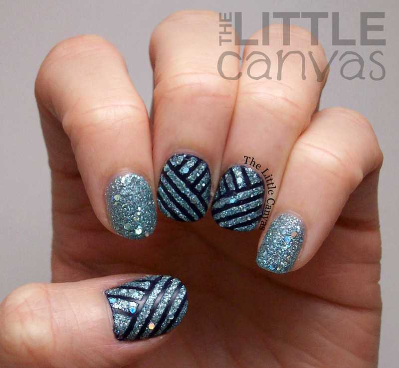 Zoya Tape Manicure nail art by The Little Canvas