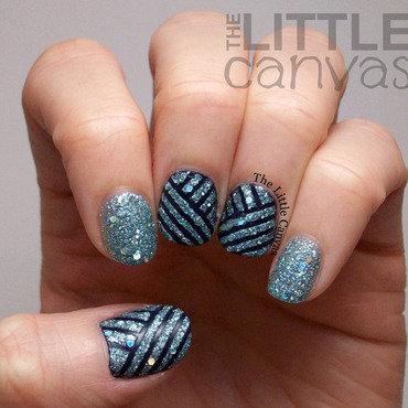 Zoya Tape Manicure nail art by The Little Canvas