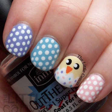 Easter Chick Nail Art nail art by The Little Canvas