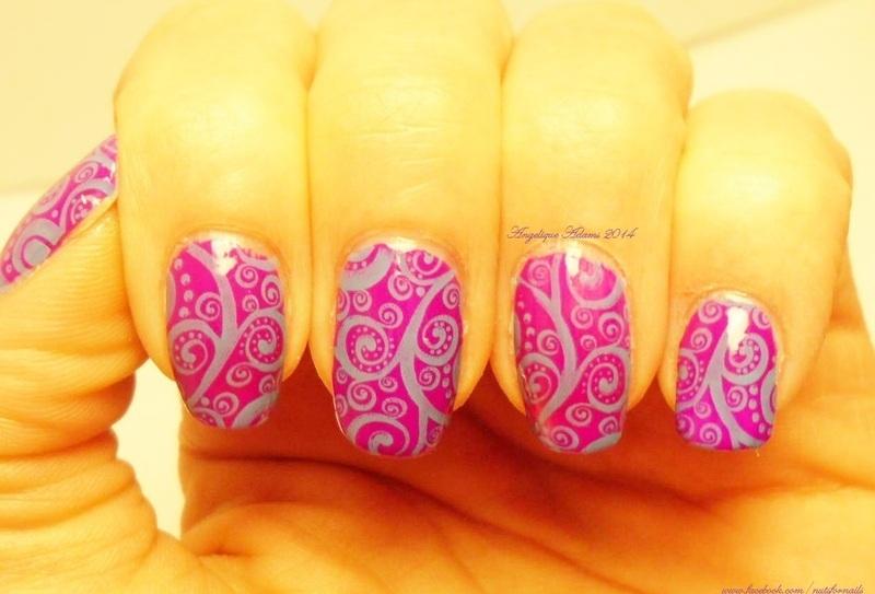 Swirls  nail art by Angelique Adams