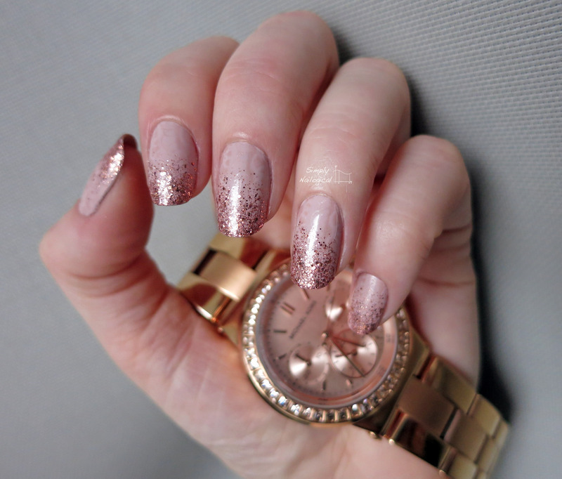Rose gold glitter gradient nail art by simplynailogical - Nailpolis ...