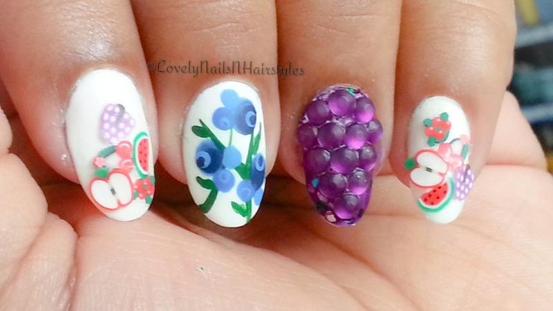 Fruttare Nails nail art by Lovely Mishra