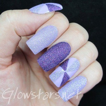 The Digit-al Dozen Does Texture: Purple Pinwheels nail art by Vic 'Glowstars' Pires