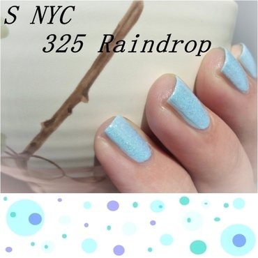 NYC #325 Raindrop and Essence Effect nail polish #02 Baby, you're a firework Swatch by Romana