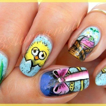 piou piou nail art by BAurorenail