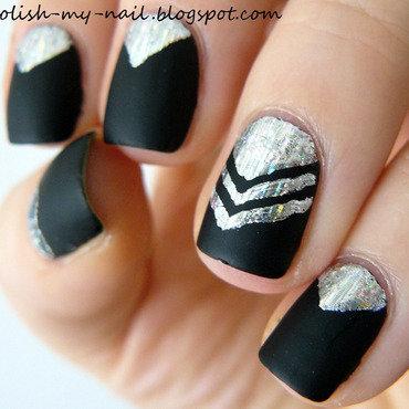Transfer foil chevron matte nail art 1 thumb370f