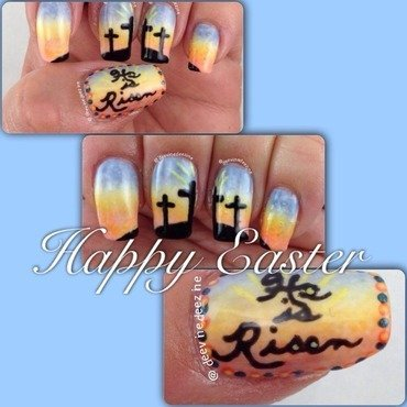 Easter Mani nail art by DeeVine DeeZine