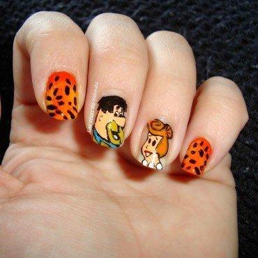 Los picapiedra nail art by Yolanda flores