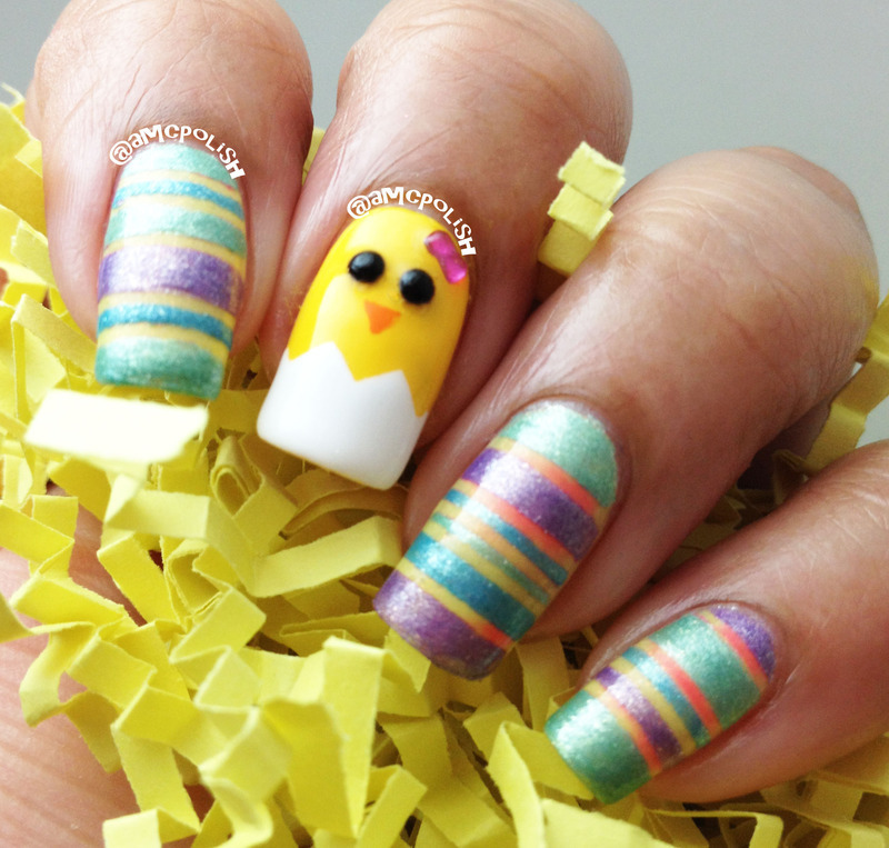 Easter Nail Art nail art by Amber Connor