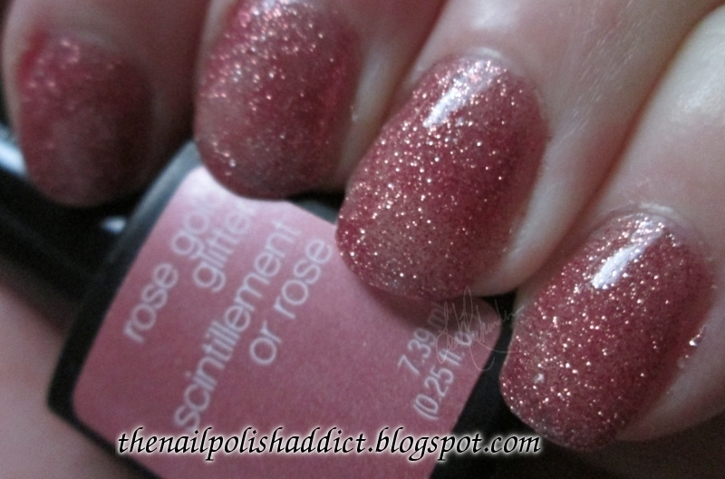 SensatioNail Rose Gold Glitter Swatch by Leah