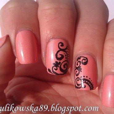 Nail spirals  nail art by Anita