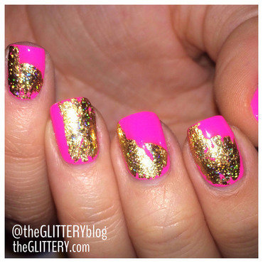 gold foil film galore! nail art by Ari  Fund