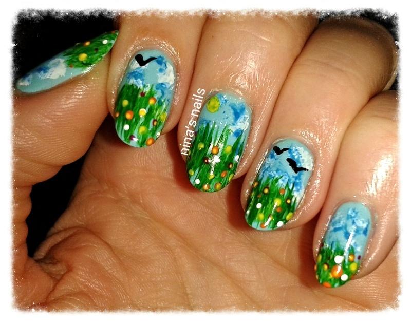 spring in my head nail art by Nina\'s nails - Nailpolis: Museum of ...