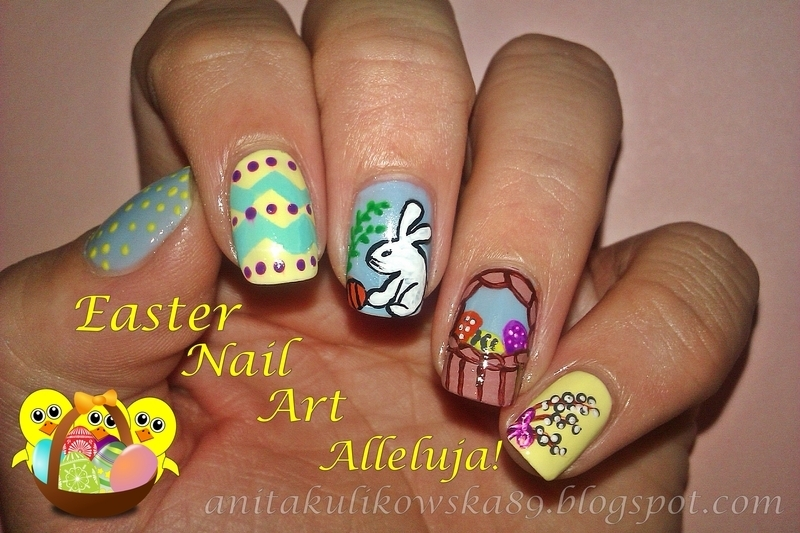 Alleluja! Easter is coming nail art by Anita