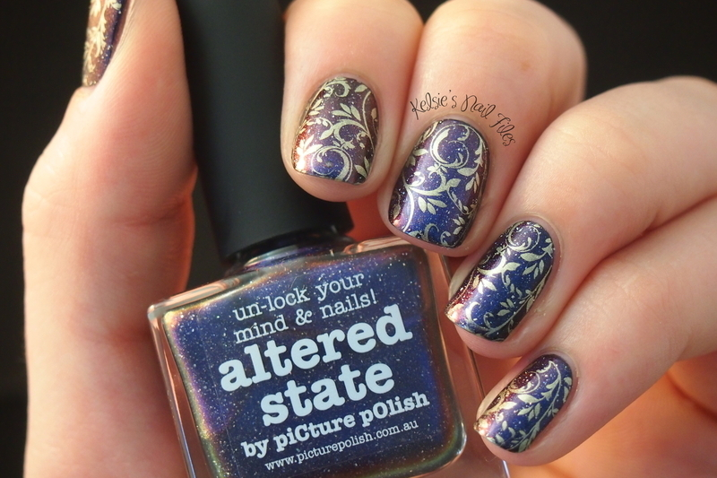 Altered State of mind nail art by Kelsie