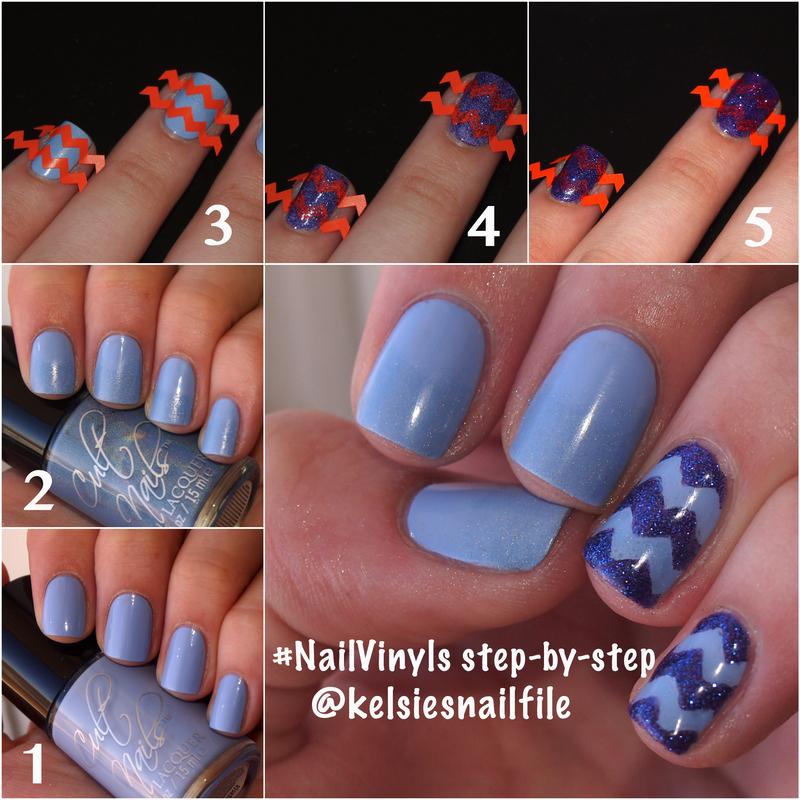 Nail Vinyls step-by-step tutorial with Cult Nails nail art by Kelsie