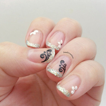 Simple and Pretty nail art by Mel