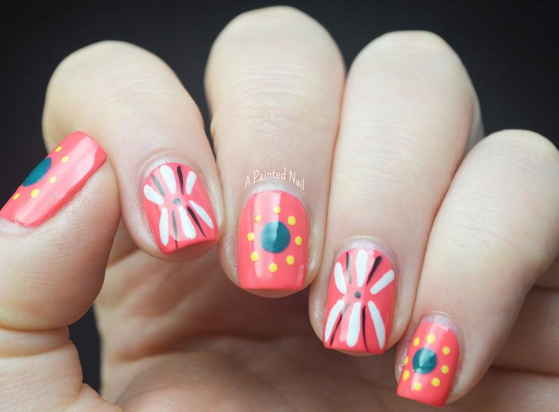 Folk Art Inspired Spring Nails nail art by Bridget Reynolds